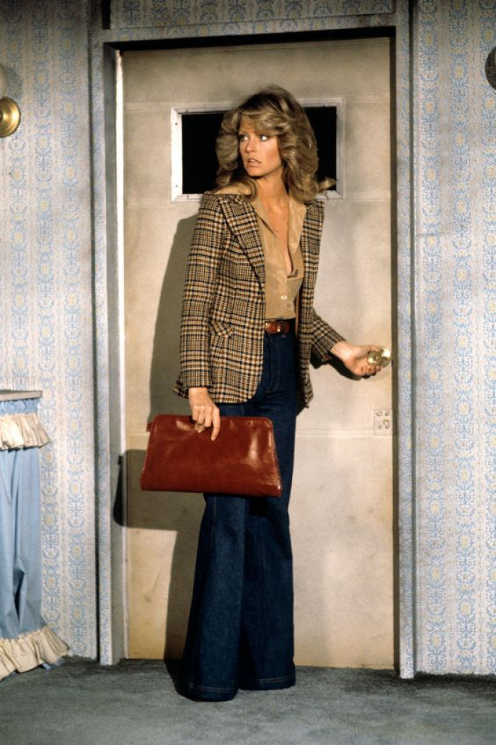 Farrah Fawcett in brown